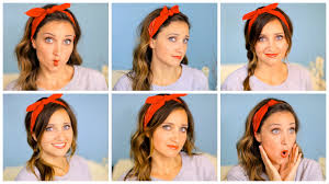 How To Make Hairstyles For Girls by Six Diy 1 Minute Bandana Hairstyles Cute Girls Hairstyles Youtube