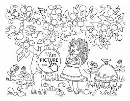 and apple tree coloring page for kids fruits coloring pages