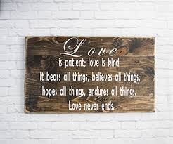 wedding quotes on wood bible verse wall is patient sign wood