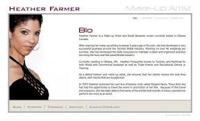 website for makeup artist makeup artist biography exles bio ideal representation