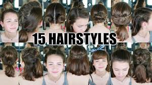 heatless hairstyles for thin hair 15 heatless hairstyles for short hair back to school youtube