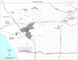 Culver City Map Culver City California