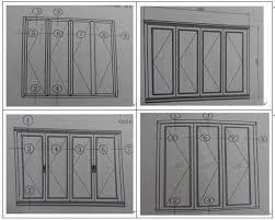Aluminium Folding Patio Doors Kin Long Hardware Folding Patio Doors Prices Aluminum Bi Folding