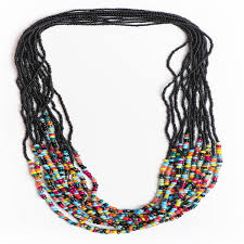 coloured beads necklace images Black beaded necklace with multi coloured beads medium length jpg