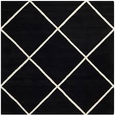 Square Wool Rug Safavieh Handmade Moroccan Black Diamond Pattern Wool Rug 7