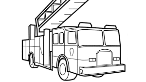 print u0026 download fire truck coloring pages print