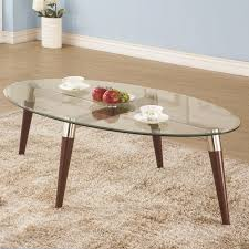 coaster 702908 nickel glass top oak finished legs round coffee