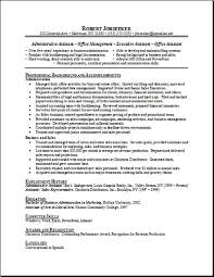 Examples Resume by Sample Resume For Secretary Receptionist Images Free Resume