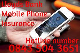 lloyds bank mobile phone insurance hotline number