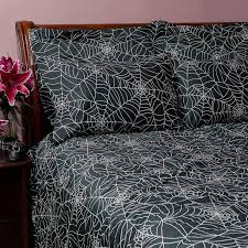 sin in linen spider web duvet cover full qn fab