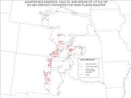 Nebraska State Map Digital Map Of Geologic Faults For The High Plains Aquifer In