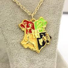 Kids Name Necklace Wholesale 2016 New Harry Potter Necklace The Hogwarts Crest