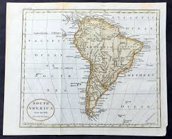 Old Map South America by 1797 John Russell Old Antique Map Of South America U2013 Classical Images