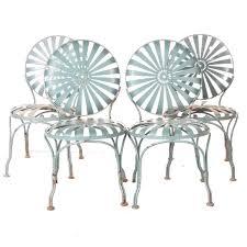 Patio Chairs Metal Vintage Carré Sunburst Metal Patio Chairs Ebth