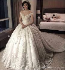 luxury wedding dresses 2018 luxury arabic gown wedding dresses shoulder cap