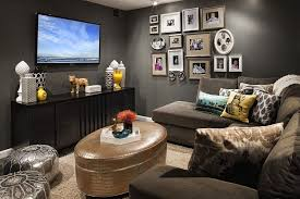 Small TV Rooms That Balance Style With Functionality - Family room design with tv