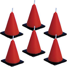 themed candles traffic cone candles for when your party is consturction