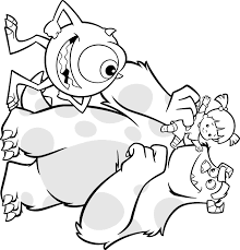 monsters characters coloring pages monsters colouring