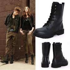 womens boots in fashion discount autumn winter black genuine leather vintage style