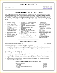 Sample Resume Format For Experienced Bpo Professionals by Free Construction Operations Manager Resume Example Construction