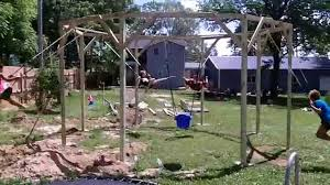awesome homemade swingset youtube