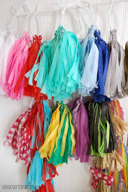 tissue streamers how to make tassel garlands the easy way using crepe paper