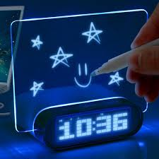 cool digital clock glowing memo alarm clock aside from the led alarm clock this
