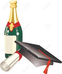 champagne celebration cartoon graduation celebration related items mitre cap champagne and