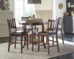 ashley dining room sets ashley 5 pc renaburg burnished brown counter height table barstool set