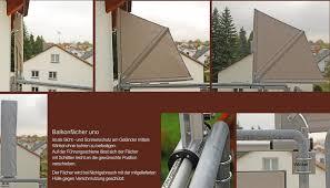 sonnenschutz balkon ohne bohren bikatec schirmsysteme balkonfächer wind und sichtschutz