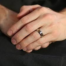 beveled ring ford s high beveled edge titanium wedding ring