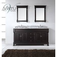 virtu usa gd 4072 wmro dw huntshire 72 double round sinks bathroom