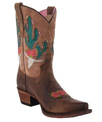 light colored cowgirl boots gypsy by lane women s bramble rose light brown cowgirl boots jg0015b