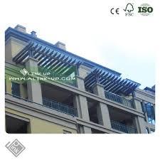 new design eco wpc garden sun shade and waterproof pergola awning