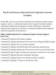 resume examples engineer top8continuousimprovementengineerresumesamples 150514014121 lva1 app6891 thumbnail 4 jpg cb 1431567727