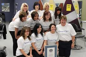 great clips hair salon sets first of two guinness world recordst