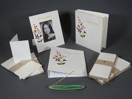 Memorial Service Favors Hand Made Memorial Funeral Stationery Sets