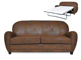 fauteuil imitation cuir vieilli canape convertible 2 places 3