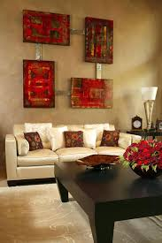 decorations and brown living room with the high quality for
