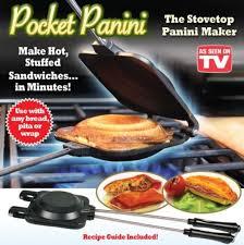 Worlds Best Deals Pocket Panini Stovetop Sandwich Maker AS SEEN