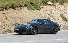 convertible porsche porsche 992 convertible resurfaces for weather testing