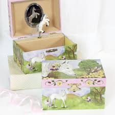 Personalized Ballerina Jewelry Box Horse And Fairies Jewelry Box For Girls