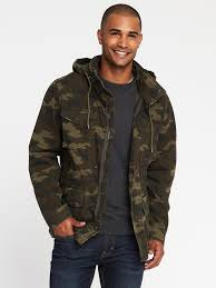 built in flex camo military jacket for men old navy
