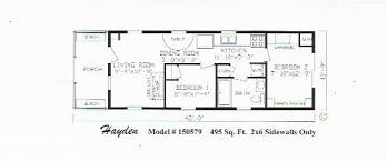 Home Plans Home Single 16 X 50 Floor Plans