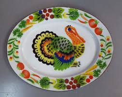 ceramic turkey platter new arrivals 1960 s henkel harris stepback turkey platters