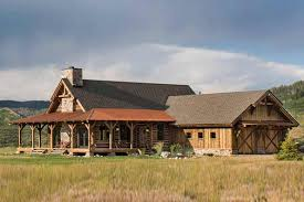 Timber Frame Cottage by Colorado Log And Timber Frame Homes By Precisioncraft