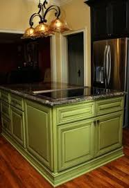 Green Cabinet Kitchen Light Green Antique Kitchen Cabinets In Combination With Natural