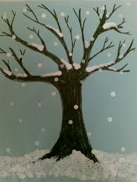 old branches ache the tree stands in the storms deep frozen