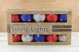 White Paper Lantern String Lights by Red White U0026 Blue Paper Lantern String Lights 6 Ft