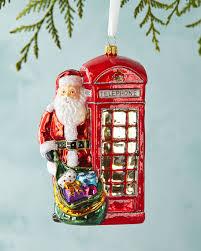 phone box santa ornament